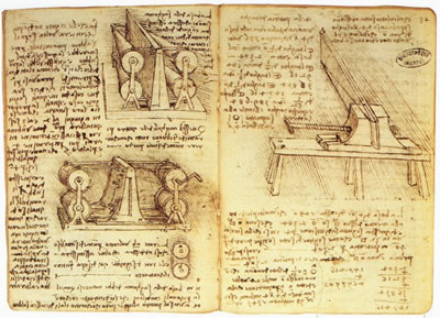 A notebook of Leonardo da Vinci
