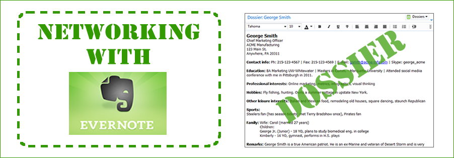 networking with Evernote