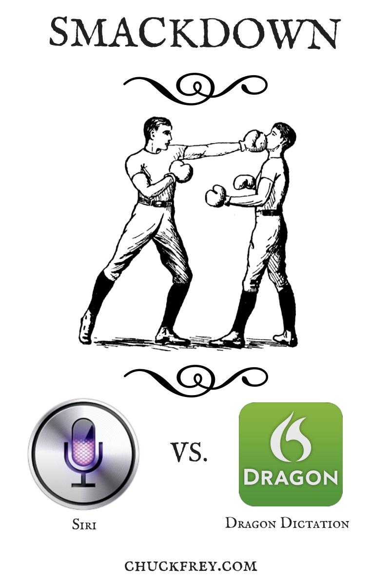 siri vs dragon dictation for iOS