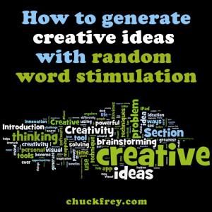 creativity technique: eandom word stimulation