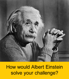 Albert Einstein - brainstorming