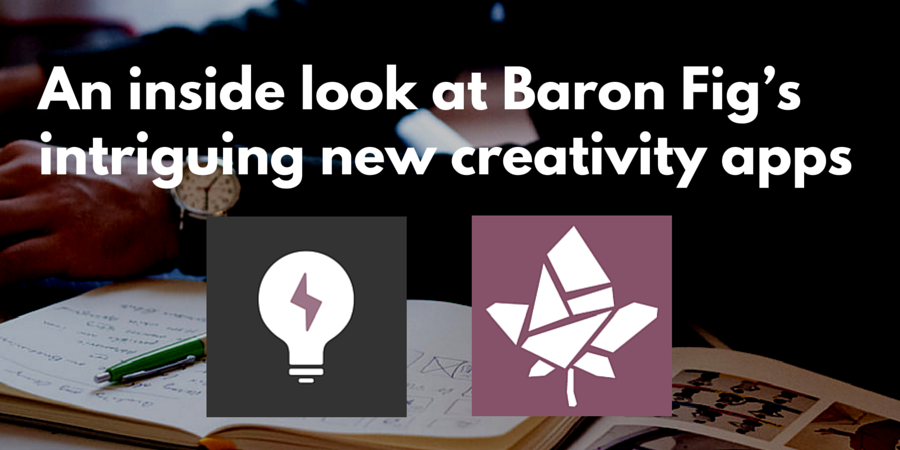 Baron Fig apps: Spark and Mosaic