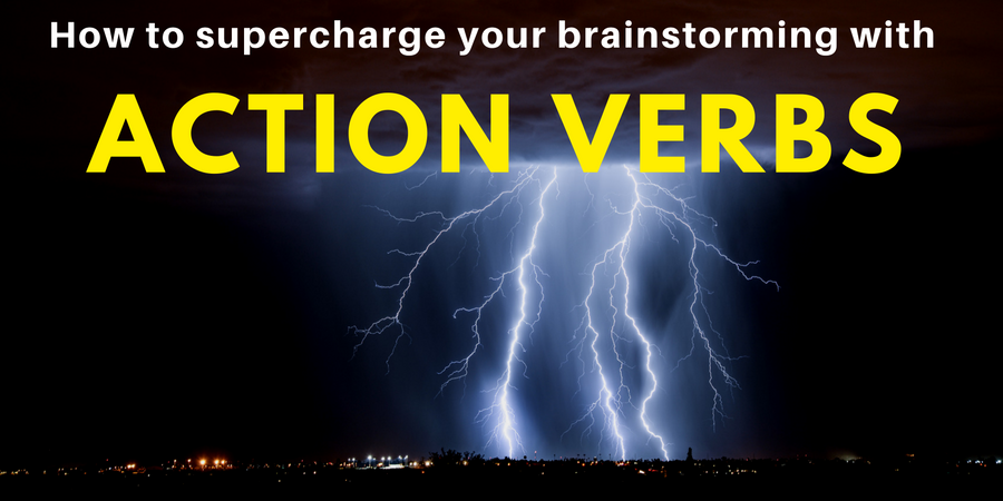 action verbs for brainstorming