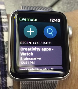 Evernote on Apple Watch